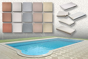 Coping stones for swimming pool edges